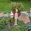 Stock Photo: Garden statues