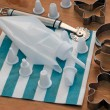 Piping bag with kitchen tools — Stock Photo
