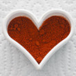 Valentine hot chili heart — Stock Photo