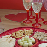 Valentine table setting — Stock Photo #18444023