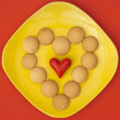 Stock Photo: Heart of biscuits.