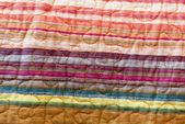 Rainbow striped fabric — Stock Photo