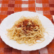 Royalty-Free Stock Photo: Portion of spaghetti with sauce