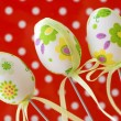 Royalty-Free Stock Photo: Three decorative painted easter eggs