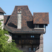 Interesting old house in Nuremberg — Stok fotoğraf