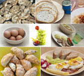 Food collage — Stock Photo