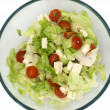Stock Photo: Salad with feta-cheese