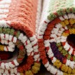 Stocked rolled carpets - Stock fotografie