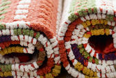 Stocked rolled carpets — Stock Photo
