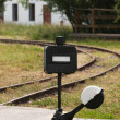 Old railroad manual switch  — Stock Photo