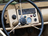 Old steering wheel — Stock Photo