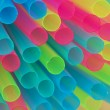 Multiple colored drinking straws — Stok fotoğraf