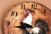 Wall clock with a rooster theme — Stock Photo