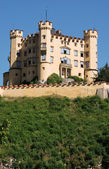 Castillo hohenschwangau en baviera, alemania — Foto de Stock