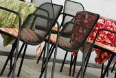 Garden chairs and tables — Stock Photo