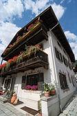Beautiful house in Garmisch-Partenkirchen — Stock Photo