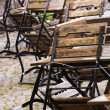 Stock Photo: Garden chairs and tables
