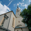 Maria-Himmelfahrt (Assumption day) church in Garmisch-Partenkirc — Stock Photo