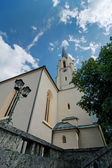 Maria-Himmelfahrt (Assumption day) church in Garmisch-Partenkirc — Foto de Stock
