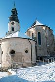 Nitra castle in winter — Stock Photo