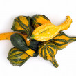 Stock Photo: Ornamental gourds in a pile