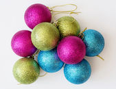 Decorative colorful christmas balls — Stock Photo