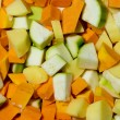 Stock Photo: Sliced vegetables