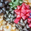 Colorful gift wrap bows — Stock Photo
