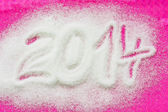 PF 2014 made from the sugar — Stock Photo