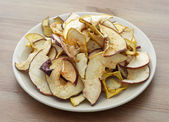 Dried sliced apples — Stock Photo