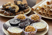 Collection of sweet pastries — Stock Photo