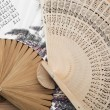 Traditional artistic fans — Stock Photo