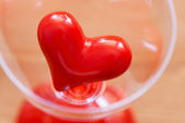 Red heart in glass — Stock Photo