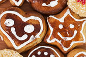 Tasty gingerbread cookies — Stock Photo