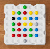 Logic board game with balls — Stock Photo