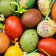 Stock Photo: Colorful easter painted eggs