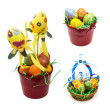 Stock Photo: Collage of colorful easter decorations