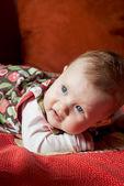 Cute caucasian baby girl — Foto Stock