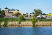 Archeoskanzen Blue - Great Moravian fortified settlement — Stock Photo