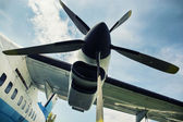 Engine propeller aircraft — Stock Photo