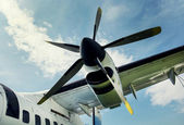Plane propeller retro style — Stock Photo