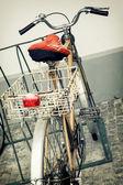 Old retro bicycle — Stock Photo