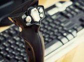 Game joystick with keyboard — Stock Photo
