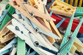 プラスチック衣服止め釘 — ストック写真