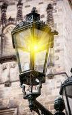 Old streetlamp lights — Stock Photo