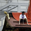 Men at the top of Float during Gion Matsuri — Stock Photo