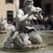 Statue in Piazza Navona fountain — Stock Photo