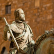 Stock Photo: Equestristatue of Cosimo I de Medici