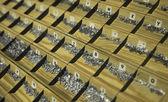 Gegoten metalen type soorten — Stockfoto