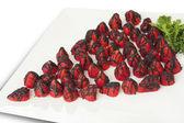 Chocolate-covered strawberries — Stock Photo
